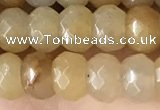 CRB5103 15.5 inches 4*6mm faceted rondelle yellow aventurine beads