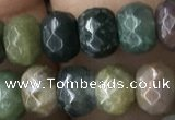 CRB5116 15.5 inches 4*6mm faceted rondelle Indian agate beads