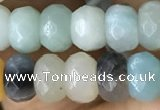 CRB5119 15.5 inches 4*6mm faceted rondelle amazonite beads wholesale
