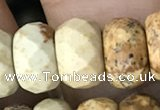CRB5159 15.5 inches 5*8mm faceted rondelle picture jasper beads