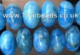 CRB5302 15.5 inches 4*6mm rondelle blue crazy lace agate beads
