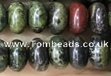CRB5309 15.5 inches 4*6mm rondelle dragon blood jasper beads