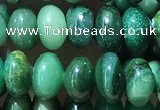 CRB5313 15.5 inches 4*6mm rondelle green jasper beads