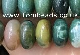 CRB5339 15.5 inches 5*8mm rondelle Indian agate beads wholesale