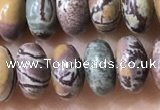 CRB5342 15.5 inches 5*8mm rondelle artistic jasper beads