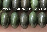 CRB5346 15.5 inches 5*8mm rondelle bronze green stone beads
