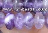 CRB5353 15.5 inches 5*8mm rondelle amethyst beads wholesale