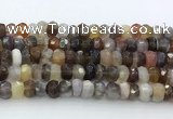 CRB5627 15.5 inches 4*7mm – 5*8mm faceted rondelle Botswana agate beads
