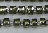 CRB624 15.5 inches 5*8mm tyre pyrite gemstone beads