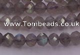 CRB719 15.5 inches 3*4mm faceted rondelle labradorite beads