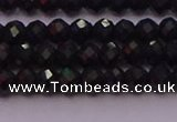 CRB721 15.5 inches 3*4mm faceted rondelle black tourmaline beads