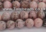 CRC903 15.5 inches 8mm round natural rhodochrosite beads