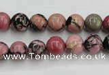 CRD02 15.5 inches 8mm round natural rhodonite gemstone beads