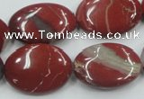 CRE12 16 inches 18*25mm oval natural red jasper beads wholesale