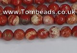 CRE330 15.5 inches 4mm faceted round red jasper beads