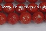 CRE342 15.5 inches 12mm faceted round red jasper beads