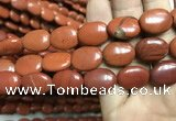 CRE64 15.5 inches 13*18mm oval red jasper beads wholesale