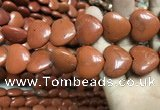CRE67 15.5 inches 20*23mm heart red jasper beads wholesale