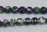 CRF03 15.5 inches 8mm round dyed rain flower stone beads wholesale