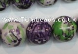 CRF08 15.5 inches 18mm round dyed rain flower stone beads wholesale