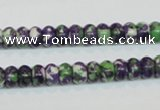 CRF12 15.5 inches 4*6mm rondelle dyed rain flower stone beads wholesale