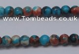 CRF270 15.5 inches 3mm round dyed rain flower stone beads