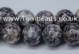 CRF286 15.5 inches 16mm round dyed rain flower stone beads
