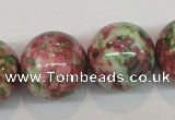 CRF29 15.5 inches 20mm round dyed rain flower stone beads wholesale
