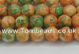 CRF309 15.5 inches 8mm round dyed rain flower stone beads wholesale