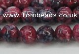 CRF346 15.5 inches 12mm round dyed rain flower stone beads wholesale