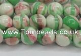CRF383 15.5 inches 10mm round dyed rain flower stone beads wholesale