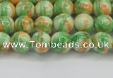 CRF417 15.5 inches 6mm round dyed rain flower stone beads wholesale