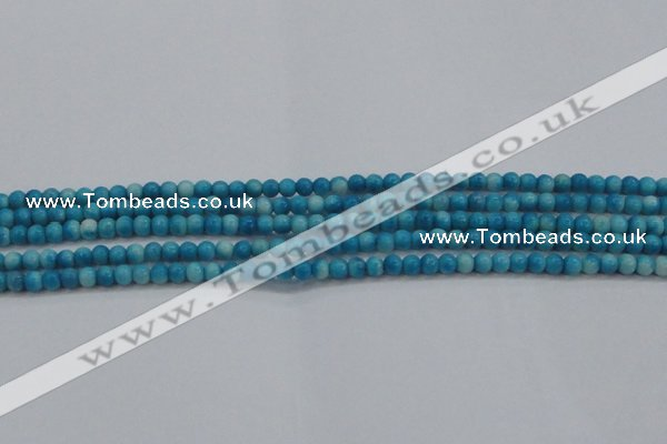 CRF440 15.5 inches 3mm round dyed rain flower stone beads wholesale