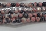 CRF445 15.5 inches 3mm round dyed rain flower stone beads wholesale