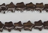 CRG05 15.5 inches 12*12mm star smoky quartz gemstone beads wholesale