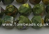 CRH164 15.5 inches 12mm faceted nuggets rhyolite gemstone beads