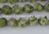 CRH535 15.5 inches 6mm faceted nuggets rhyolite gemstone beads