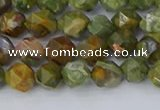 CRH541 15.5 inches 6mm faceted nuggets rhyolite beads wholesale