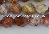 CRH549 15.5 inches 10mm faceted nuggets rhyolite gemstone beads