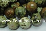 CRH59 15.5 inches 16mm faceted round rhyolite beads wholesale