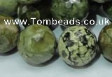 CRH61 15.5 inches 20mm faceted round rhyolite beads wholesale