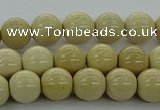 CRI202 15.5 inches 8mm round riverstone beads wholesale