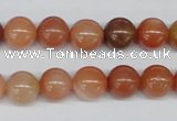 CRJ202 15.5 inches 10mm round natural red jade gemstone beads