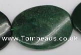 CRJ328 15.5 inches 30*40mm twisted oval African prase jasper beads