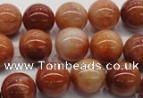 CRJ501 15.5 inches 6mm round red jade gemstone beads