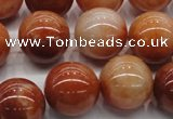 CRJ503 15.5 inches 10mm round red jade gemstone beads