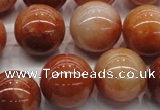 CRJ504 15.5 inches 12mm round red jade gemstone beads
