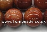 CRJ507 15.5 inches 18mm round red jade gemstone beads