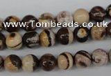 CRO102 15.5 inches 8mm round zebra jasper beads wholesale