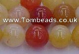 CRO1165 15.5 inches 14mm round golden silk jade beads wholesale